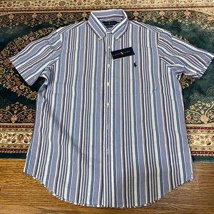 NEW Ralph Lauren Polo Men's Seersucker shirt M